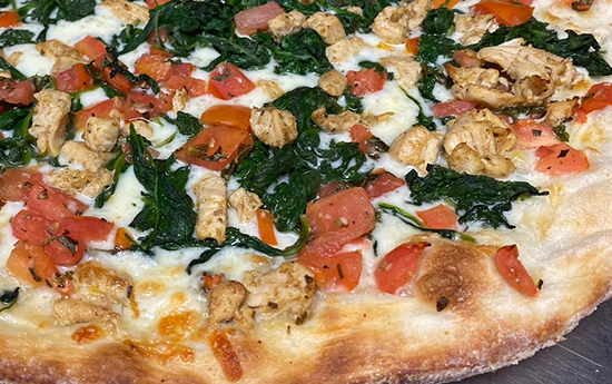 chicken popeye pizza